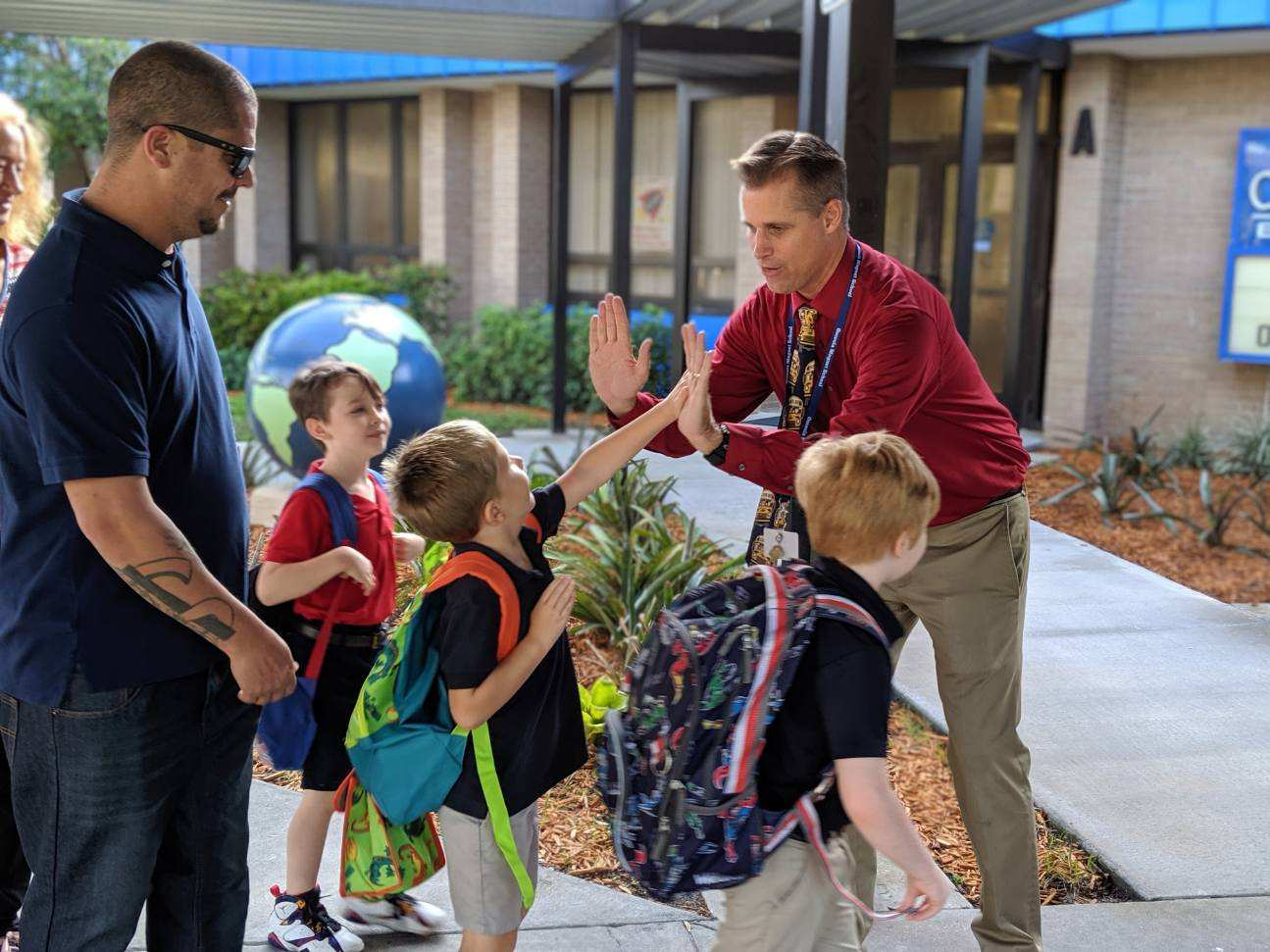 Osceola Magnet's first day of school
