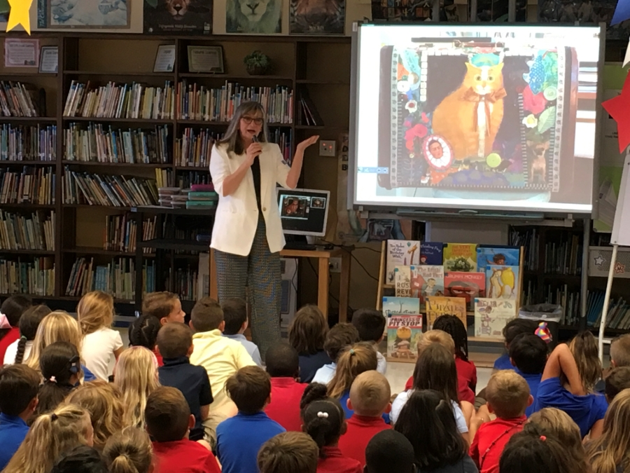 Author Judy Schachner visits Oceola 1st and 2nd graders